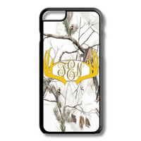 Yellow White Camo Antlers Monogram Iphone 6/6S Case Plus 5C 5/5S 4/4S Personalized Snow Deer Hunting Custom Cover
