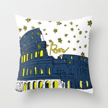 Rome Italy Throw Pillow by cindys