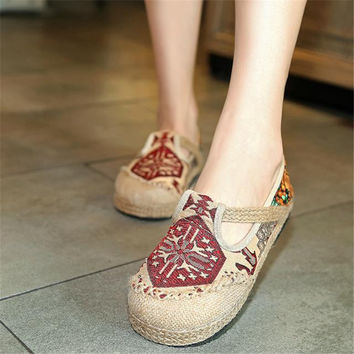 Autumn Stylish Vintage Pattern Shoes [9257113484]