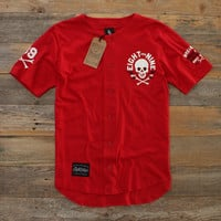 Keep It Thoro Red Cotton Baseball Jersey