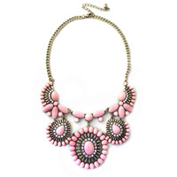 Fashion Women Retro Round Adjustable Bib Necklace