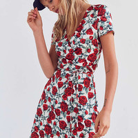 Wyldr Cherry Rose Mini Wrap Dress | Urban Outfitters