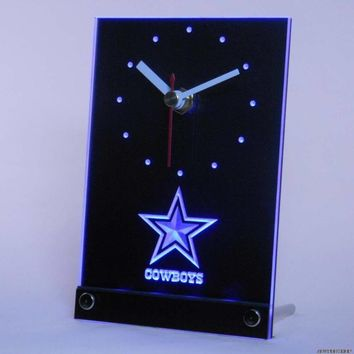Dallas Cowboys Desk Clock with 3D LED Technology