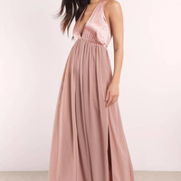 There She Goes Halter Maxi Dress