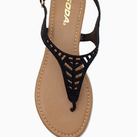 Glen Crystal Cut Out Sandal