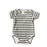 Organic Bodysuit Black Stripes