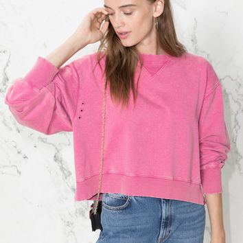 Cropped Pullover - Pink - Sweatshirts & Hoodies - & Other Stories US