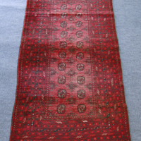 Handmade Vintage Oriental Rug Osamest | Style and Decor