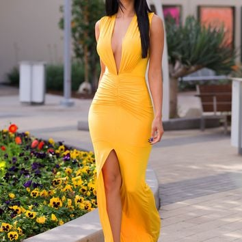 Harmony Maxi Dress - Yellow