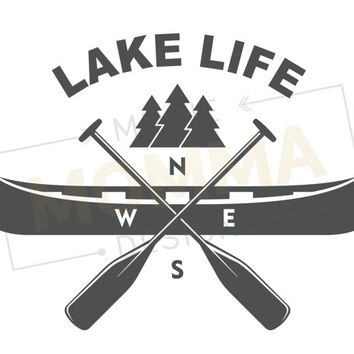 Lake Life // Lake Life Print // Cabin Decor // Lake Home Decor // Lake House Sign // Lake Life Sign // Summer Cabin Decor // Beach House Art