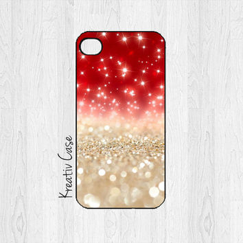 iPhone 6 case, iPhone 5 case, iPhone 5S case, Christmas Phone Cases, Holiday, Glitter, Red, Merry Christmas
