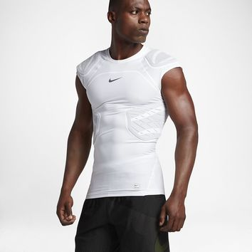 Nike Pro HyperStrong 4-Pad Men's Short Sleeve Football Top. Nike.com