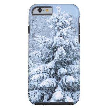 iPhone 6 Snow Covered Tree Case Tough iPhone 6 Case