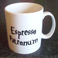 Harry Potter Espresso Patronum coffee mug