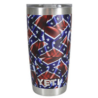 YETI 20 oz Confederate Rebel Flag Pattern Tumbler Rambler