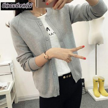 OHCLOTHING 2017 Spring 9 color Wool Sweater V neck Can not buckle cardigan Fashion wild Female Small shawl Jacket burderry women