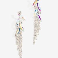 Higher Love Rhinestone Fringe Drop Earring