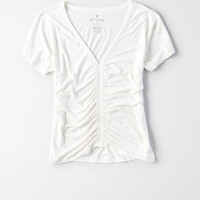 AE Soft & Sexy Cinch Front Dolman Tee , Natural White