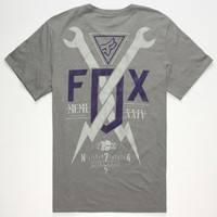 Fox Gigmaster Mens T-Shirt Graphite  In Sizes