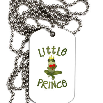 Little Prince Frog Adult Dog Tag Chain Necklace