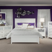 Sophie White Mirrored King Bedroom Set