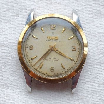1957 Vintage Tudor Rolex Oyster Prince Watch, 7909 Rare Model, Small Rose