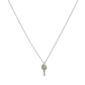confidence is key, key necklace, sterling silver - Dogeared