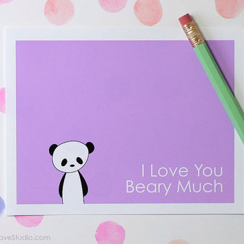 Panda Pun Love Card Girlfriend Boyfriend Wife Husband Anniversary Wedding Engagement Birthday Romantic Cute Fun Bear Handmade Greeting Cards