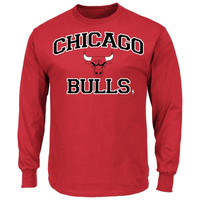 Chicago Bulls Majestic Big & Tall Heart & Soul Long Sleeve T-Shirt – Red