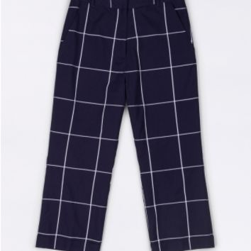 The Styles Plaid Wide Leg Trouser