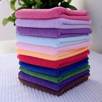 10pcs Useful Soft Soothing Face/Hand Towel / Cleaning Cotton Towel Wash Cloth (Size: One Size)
