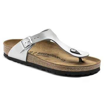 Birkenstock Gizeh Birko Flor Graceful Silver 1009604 Sandals - Best Deal Online