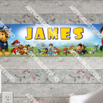 Personalized/Customized Paw Patrol #1 Poster, Border Mat and Frame Options Banner 176