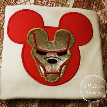 Iron Man Mouse Custom embroidered Disney Inspired Vacation Shirts for the Family!