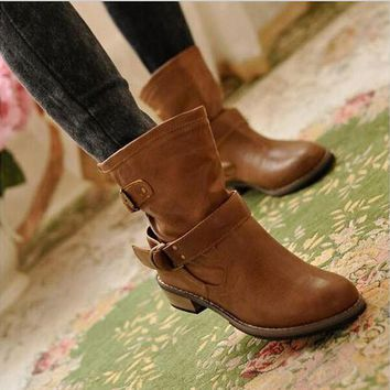Ankle Boots Riding Boots Casual Ladies Martin Boots