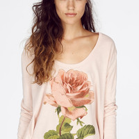 OPHELIA LAZY WEEKEND LONGSLEEVE T at Wildfox Couture in  BABY, PARTY GIRL