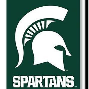 Michigan State Spartans NEW LOGO 2-sided GARDEN Window Flag Banner University