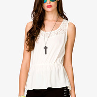 Lace Paneled Top