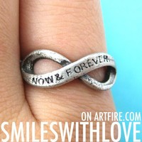 SALE Now and Forever Infinity Bow Ring in Silver in Size 6 and 7 ONLY