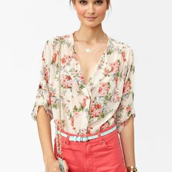 Rose Blossom Blouse  in  Clothes at Nasty Gal