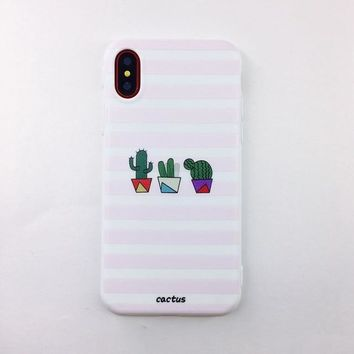 Candy Color Soft TPU Rubber Silicon  iPhone Case - Cactus 2
