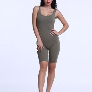 Women Cotton Skinny Jumpsuits & Rompers 0951-76