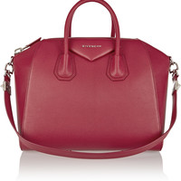 Givenchy - Medium Antigona bag in cherry textured-leather