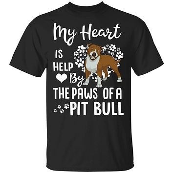 My Heart Is Held By The Paws Of A Pit Bull Lover