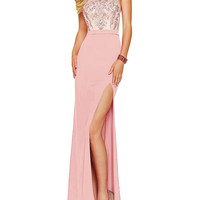 Nitree Sexy Mermaid Prom Dress Embroidery Long Evening Dress Split