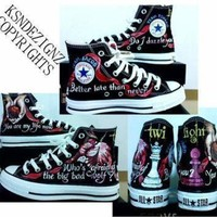 ONETOW twilight saga hand painted any size converse shoes