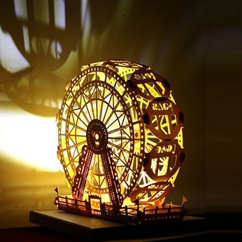 Paper Carving DIY Greeting Card - Ferris Wheel - 💌😍🎡🚩💡