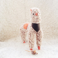 Ooak Doll Llama, Soft Toy, Plush Alpaca, Plush animal toy, Stuffed Llama with miniature mouse