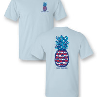 SALE Sassy Frass Fireworks USA American Pineapple Comfort Colors Girlie Bright T Shirt