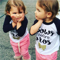 Hot Kids Toddler Infant Baby Girls Clothes Long Sleeve Tops T-shirt Tees 1-4Y t shirts for girls 2016 Newest Fashion